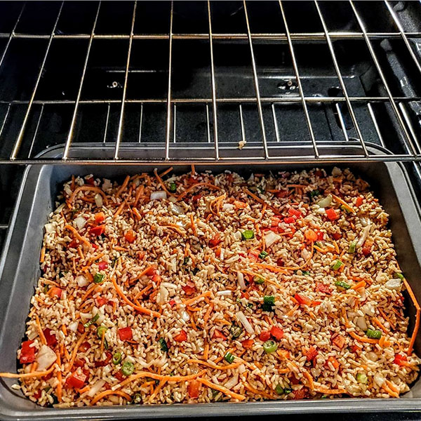 Fried Rice in the Pan